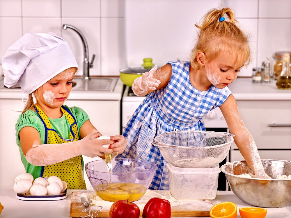 Include children in breakfast-prep to encourage healthy eating habits.