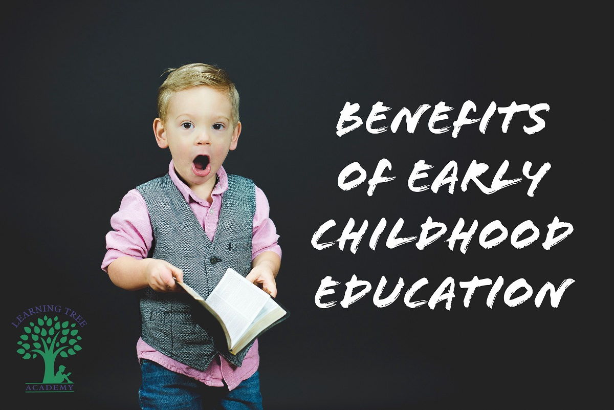 Little boy with book. Benefits of Early Childhood Education