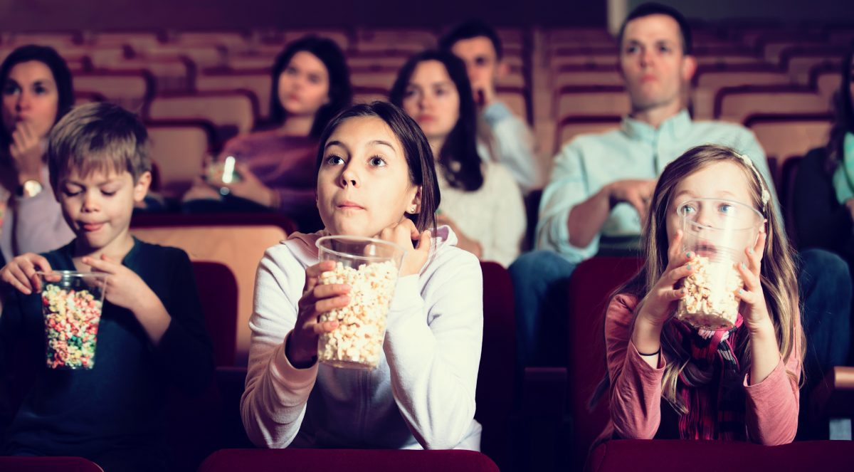 Kids enjoy movie at theater